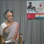RT @INC_Andhra: Indira Gandhi speaking with Rakesh...