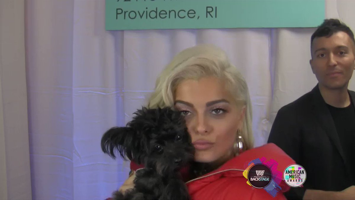 The video of @BebeRexha and her puppy Be...