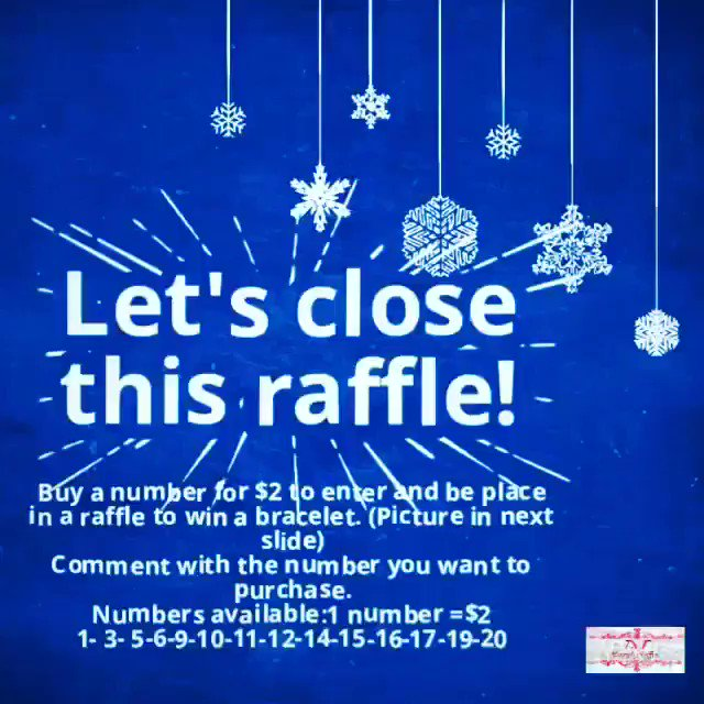 Raffle: $2 a number. Comment which number you want to purchase to enter. Numbers available to be purchase: 1- 3- 5-6-9-10-11-12- 14-15-16-17-19-20.  #loveyou #iloveyoutothemoonandback #mairyleibracelets #mairyleiraffles #mairylei #raffle #rt https://t.co/bS0pUJuVFD