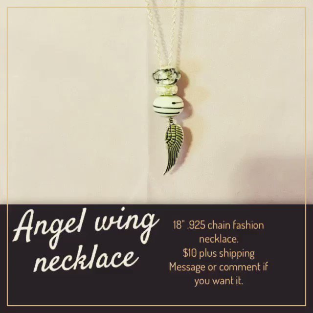 $10 + shipping (U.S only) comment if you want it. #rt #christmasgifts #Angels #WINGS #neclace #shopping #mairyleiraffles #mairyleibracelets #mairylei https://t.co/q9O4qELfe0