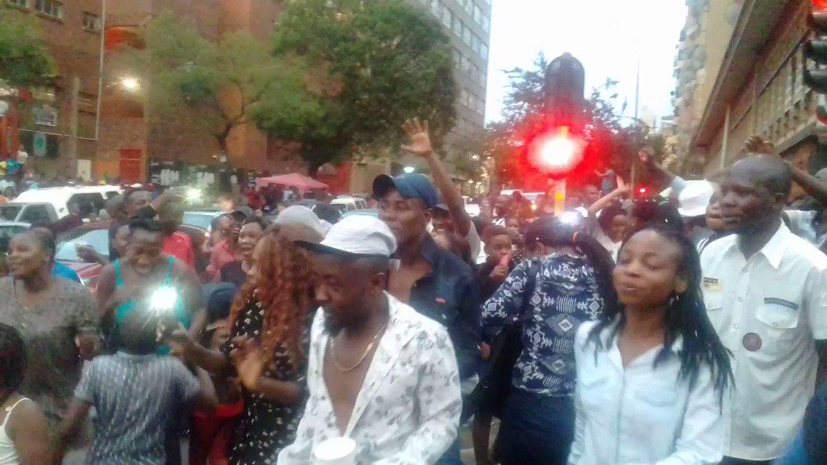 Scenes in Hillbrow, Johannesburg right n...