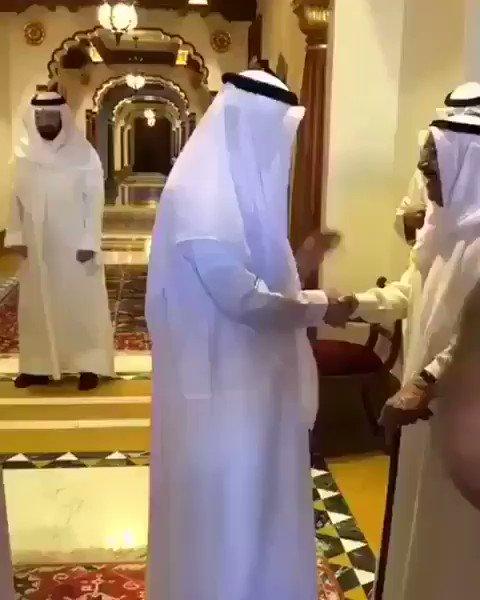 الشيخ القطري : نحن بخير يرد الشيخ صباح ا...