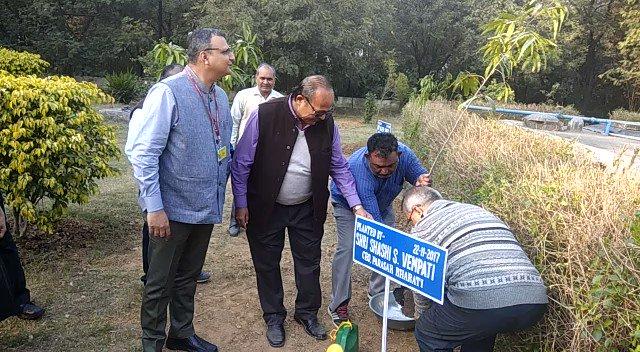 Prasar Bharati CEO @shashidigital plants...