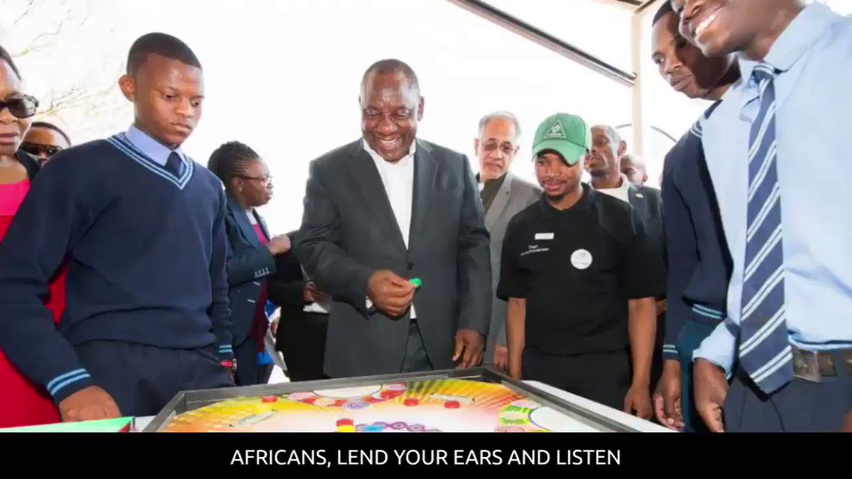 """Africans, lend your ears and listen...""..."