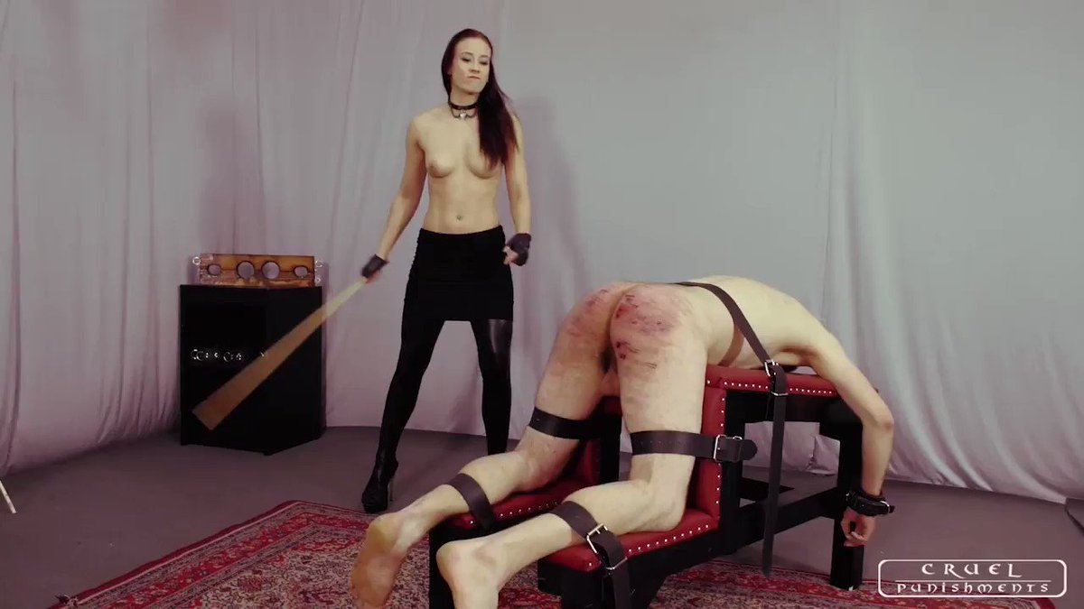 South american mistress karina cruel doing bondage and slave punishment of her sexy submissive