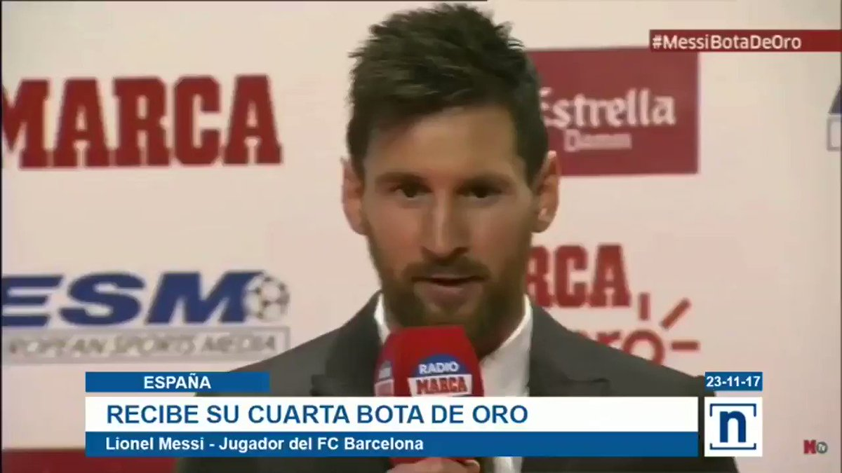 #España Messi recibió su cuarta Bota de...