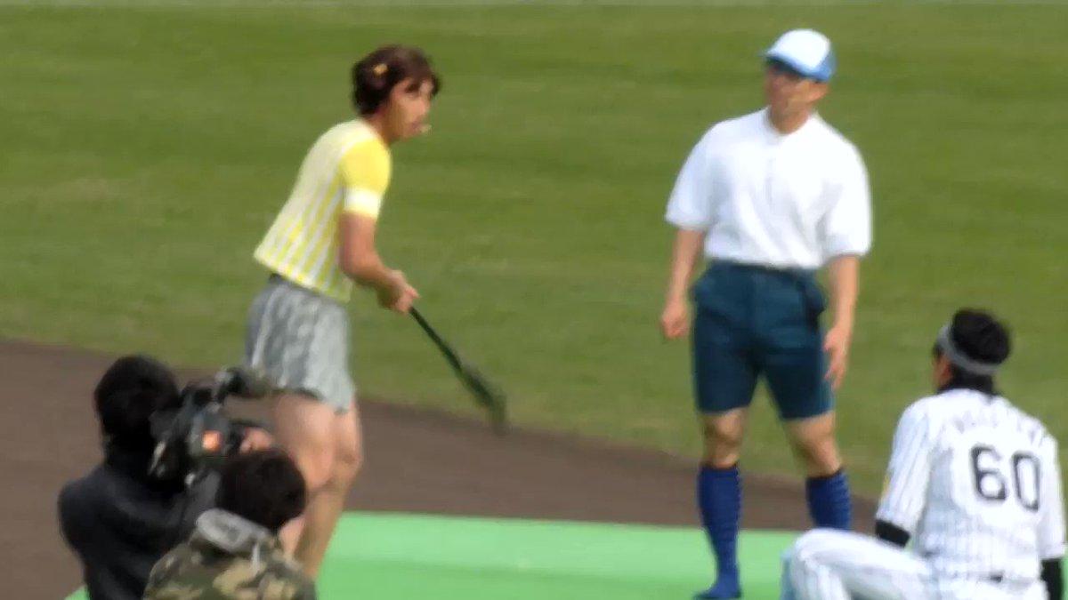 西田選手と伊藤隼太選手でにゃんこスターw #阪神ファン感謝デー2017
