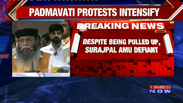 Protest against Padmavati intensifies in Gurugram as Rajput leader threatens West Bengal CM Mamata Banerjee https://t.co/uFNebDfxtt