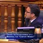 サンフランシスコ市議会で慰安婦像設置に関する公聴会が開かれた際、「従軍慰安婦は全て捏造だ。あの売春婦…
