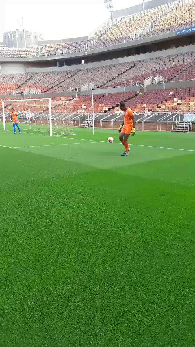 Oscarine Masuluke juggling the Ball at T...