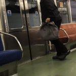 電車にはいろんな人おるなー🤤人間おしっこ我慢の限界来たらこんなんなるんやな😶 pic.twitter…