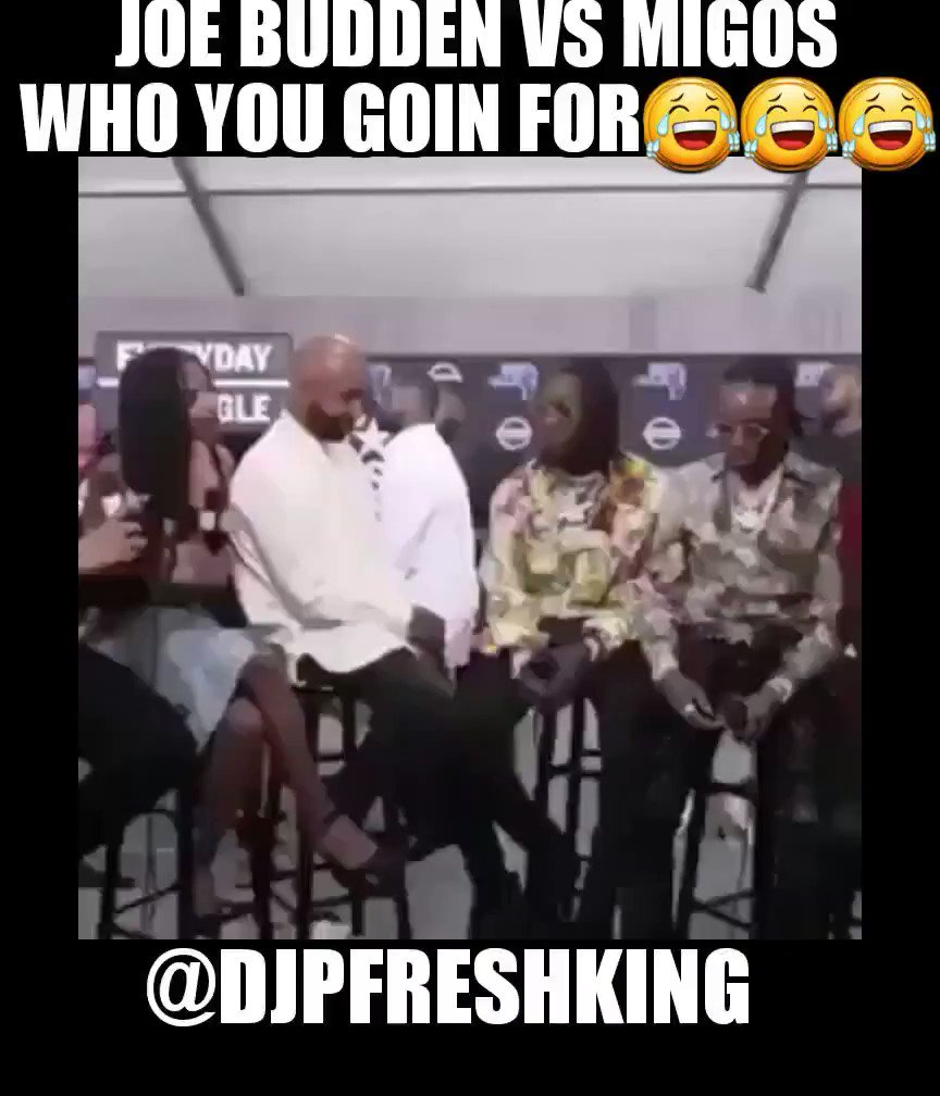 RT @DJPFreshKing: #joebudden vs #Migos rematch  😂😂😂😂 https://t.co/BDB8ZueoJH