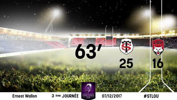 30 - 16 63ème minute :  Essai toulousain...