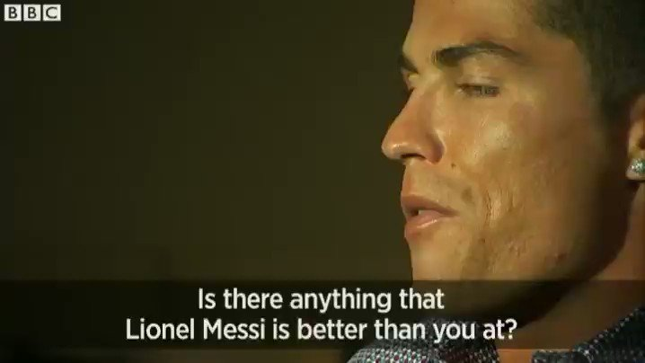 That time Cristiano Ronaldo was asked if hes better than Messi... #BallonDor #RMA #FCB