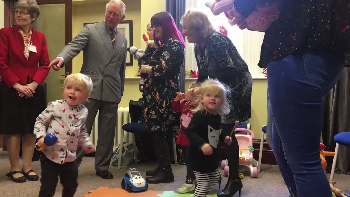 Meanwhile, there's dancing, 🎄 Christmas songs 🎄 and a bit of mischief when The Prince visits the Thursday Stay and Play group!