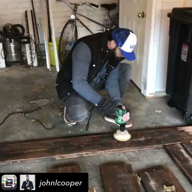 Who knew @johnlcooper is also a woodwork...