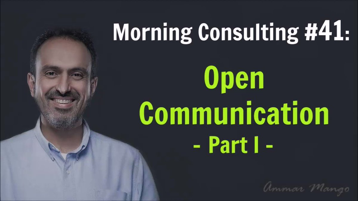 What it means to have an #open #communication #culture at #work #Morning #Consulting #Tips #AmmarProHacks https://t.co/sU8so2UG5X