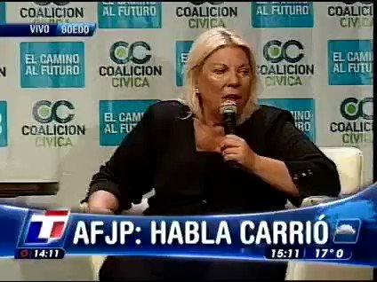 RT @TomiOlava: Elisa Carrió, 21 de octubre de 2008: https://t.co/xaicsymGeG