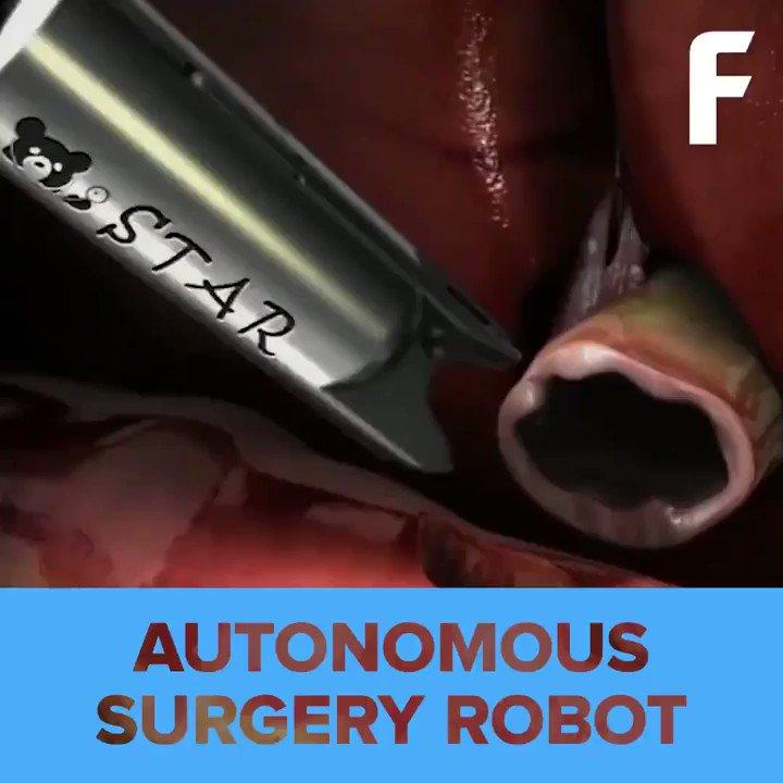 This #robot performs #autonomous soft-tissue surgery w/ #programming from the world's best surgeons. #ai #robotics #robots #healthtech