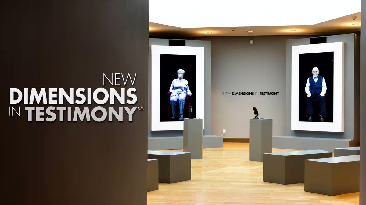 New Dimensions in Testimony℠, created by the @USCShoahFdn , is a lasting link for future generations to connect with Holocaust survivors. We encourage parents & teachers to visit #MJH and bring their children and students. #StoriesSurvive