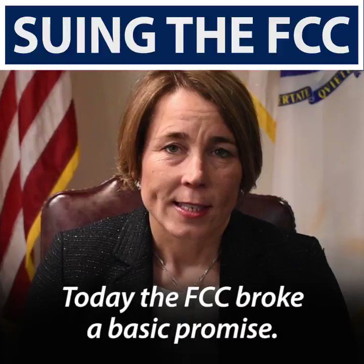 RT @MassAGO: The @FCC's repeal of #NetNeutrality was illegal and we will be filing suit. Here's why: https://t.co/9Imp7P19sz