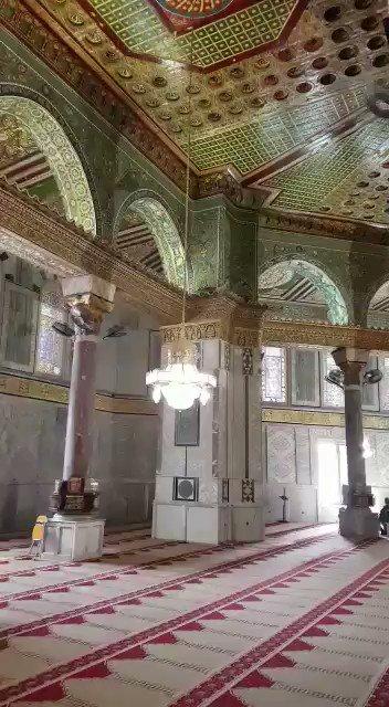#المسجد_الاقصى  مشهد لم تراه في حياتك .....
