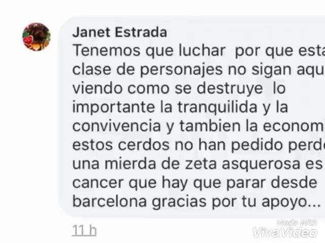 Os presento a Janet Estrada. Lleva meses...