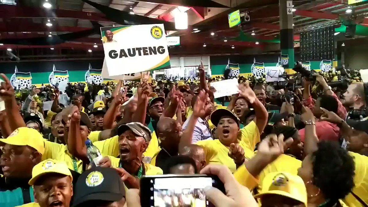 #ANC54 Gauteng delegates singing 'Zuma m...