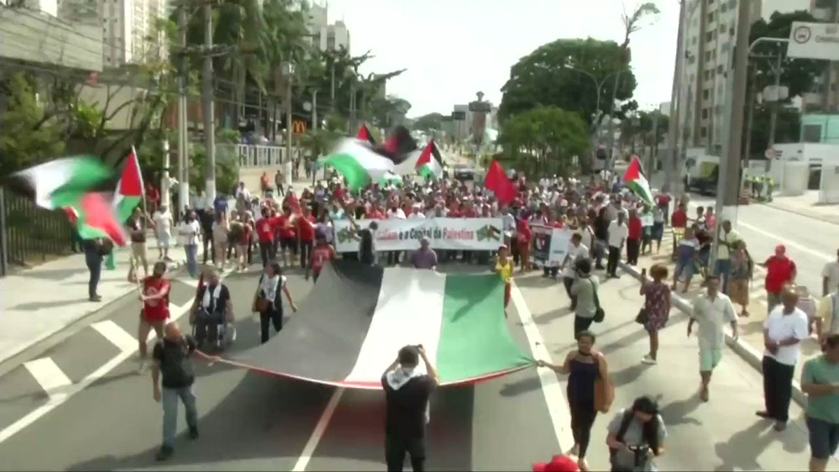 Huge processional march takes over Brazi...