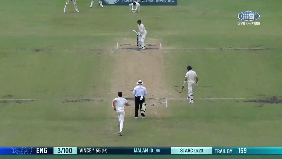 Mitchell Starc to James Vince - Ball of...