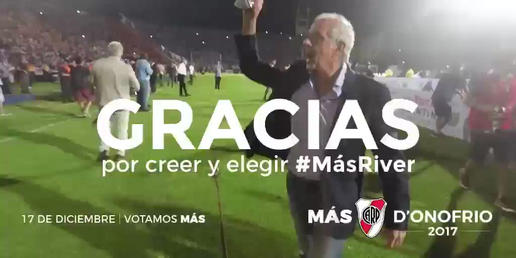 RT @RodolfoDonofrio: GRACIAS  #MásRiver https://t.co/3OOtl4YQKr