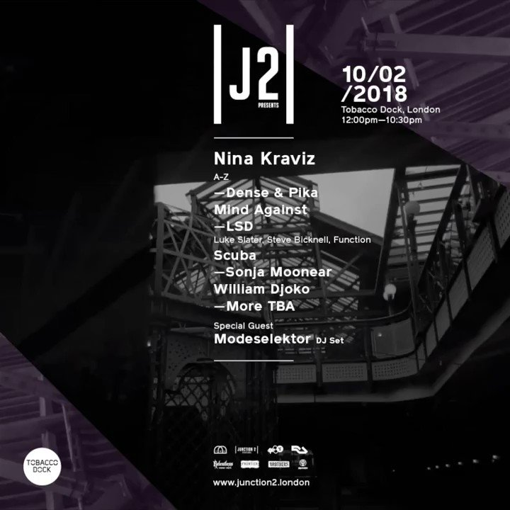 Junction 2 comes to Tobacco Dock as a warm up to the third installment of Junction 2 festival  - https://t.co/m2z3LdXnGD