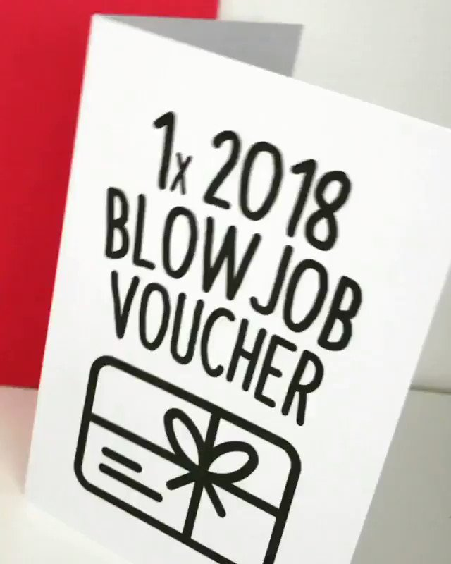 Blowjob voucher