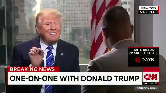"FLASHBACK to 12/9/2015: TRUMP insists to @donlemon: ""I am the least racist person that you have ever met.' https://t.co/SV9Pj33aD4"