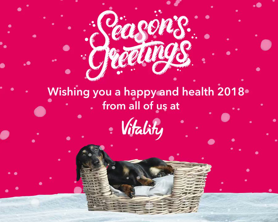 A very happy, healthy #Christmas to all of you and your loved ones, from us here at Vitality. https://t.co/3XFbLNgQgS