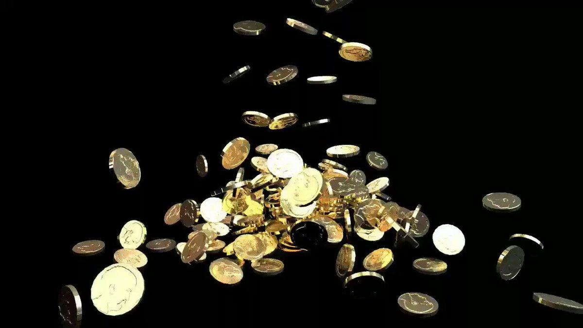 анимация падающих монет фото если
