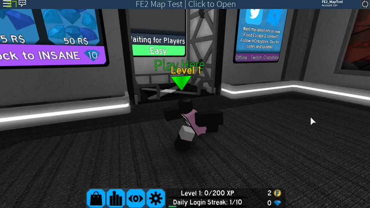 Roblox Fe2 Map Test Codes Crazy On Twitter Flood Escape 2 Map Testing Just Got A Major Update Now You Can Search For Your Favourite Maps By Map Name Creator Name Or Map Id No Need To