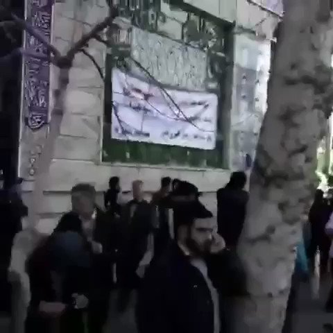 "People in #Iran chant at the cleric ""cle..."