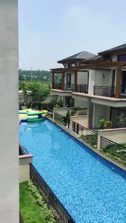 A neighborhood pool in China.