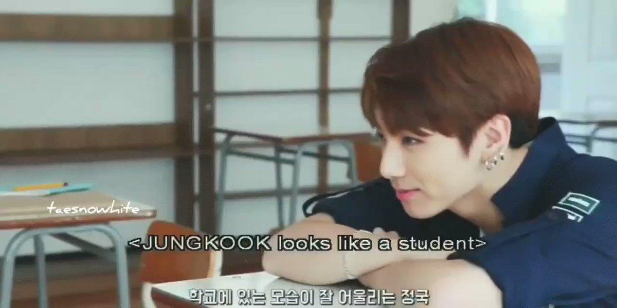 imagine jungkook as your classmate, wow...