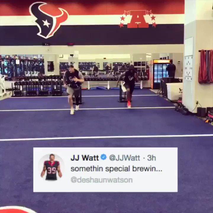 Get ready Houston Texans fans. JJ Watt and Deshaun Watson are training together.  (via @JJWatt)