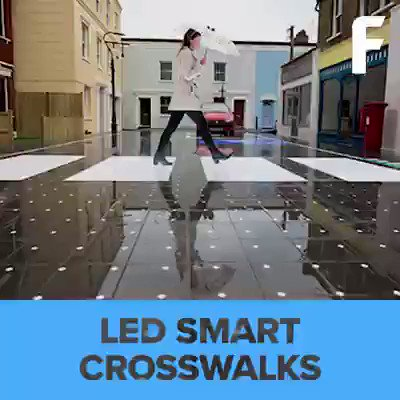 Innovation brings us the finest things - Smart Crosswalks! {Video}  #SmartCity #IoT #sensors #innovation #tech  [via @Futurism]