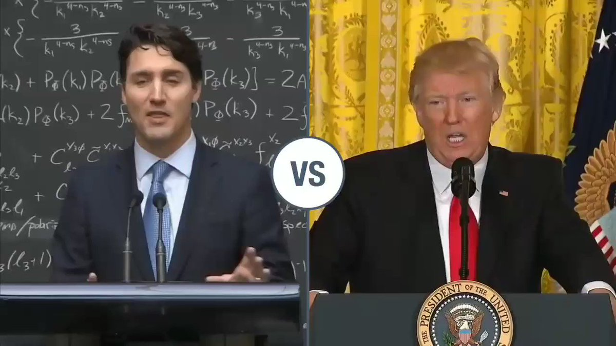 I'm just going to let this video speak for itself.  Justin Trudeau compared to Donald Trump.  #stablegenius