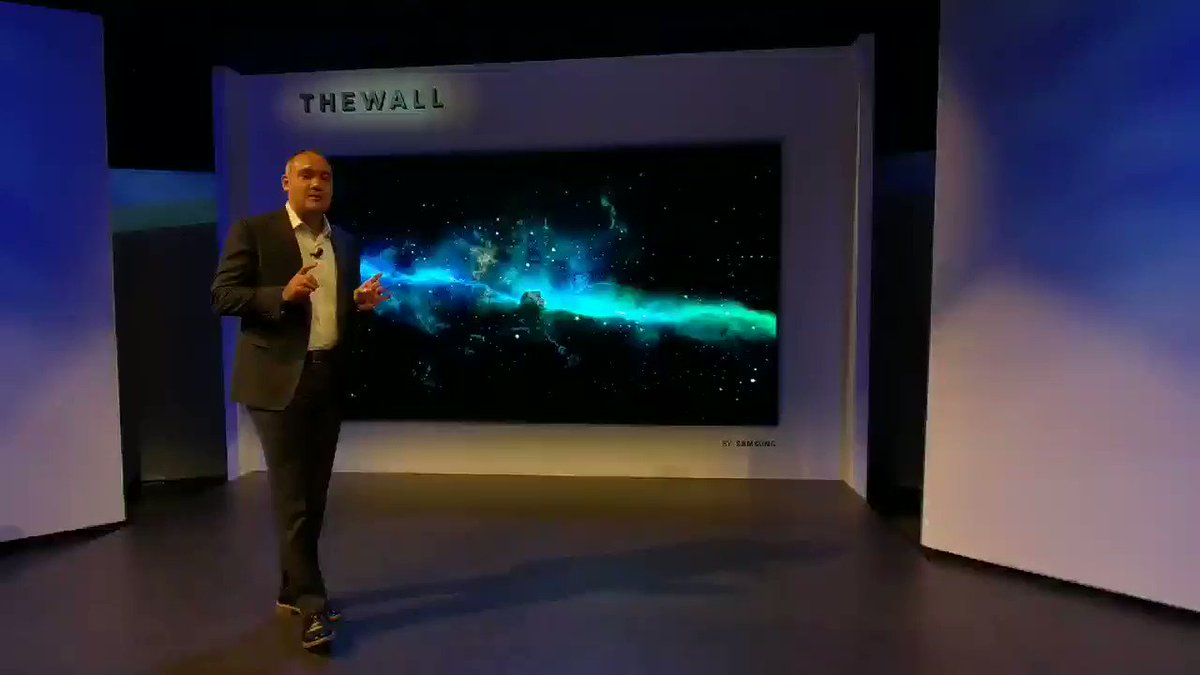 Samsung unveils massive 146-inch 4K TV called 'The Wall'