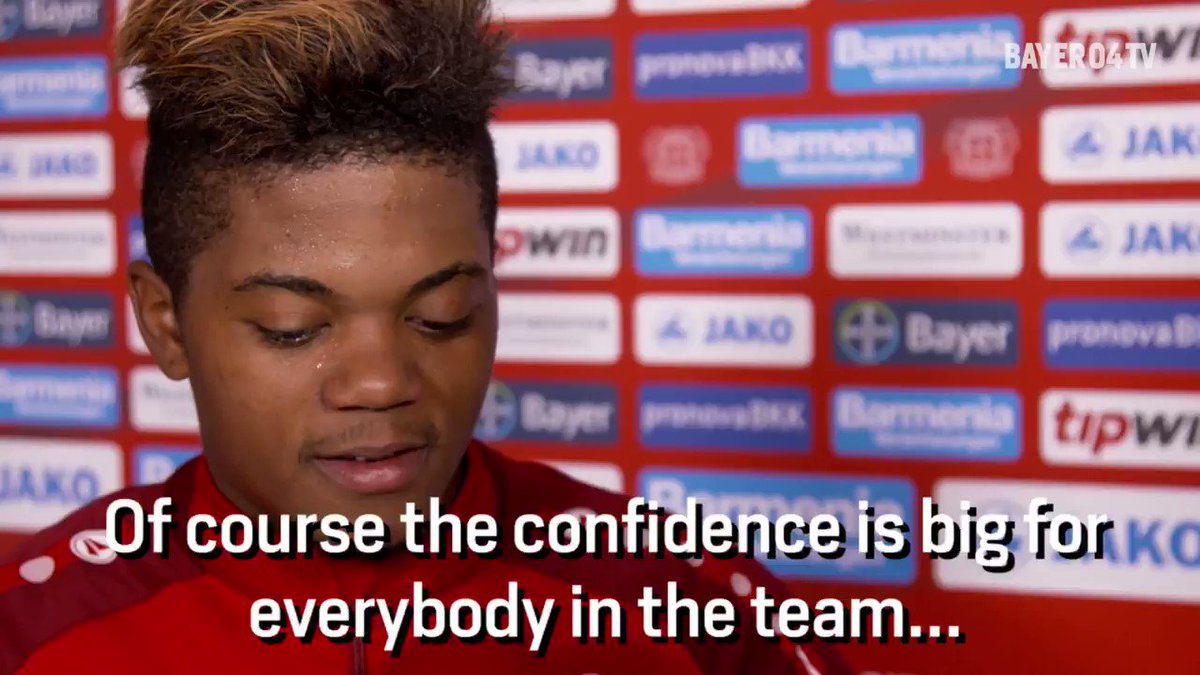 RT @bayer04_en: Leon Bailey talks about confidence ahead of #B04FCB! https://t.co/oDfrUBUFZv