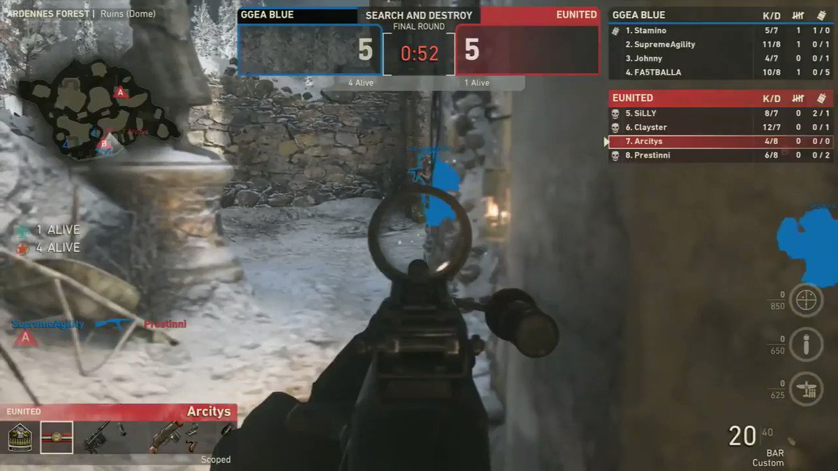 .@Arcitys with the 1v4 in round 11!  Act...