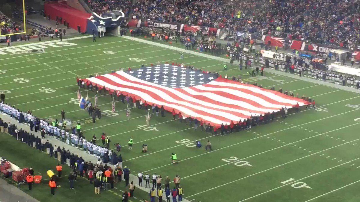 WATCH: National anthem for #NotDone Patr...