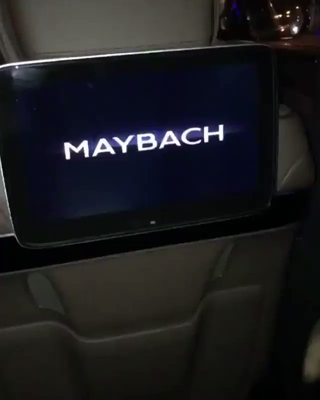 Tinie Tempah riding around in a Maybach...