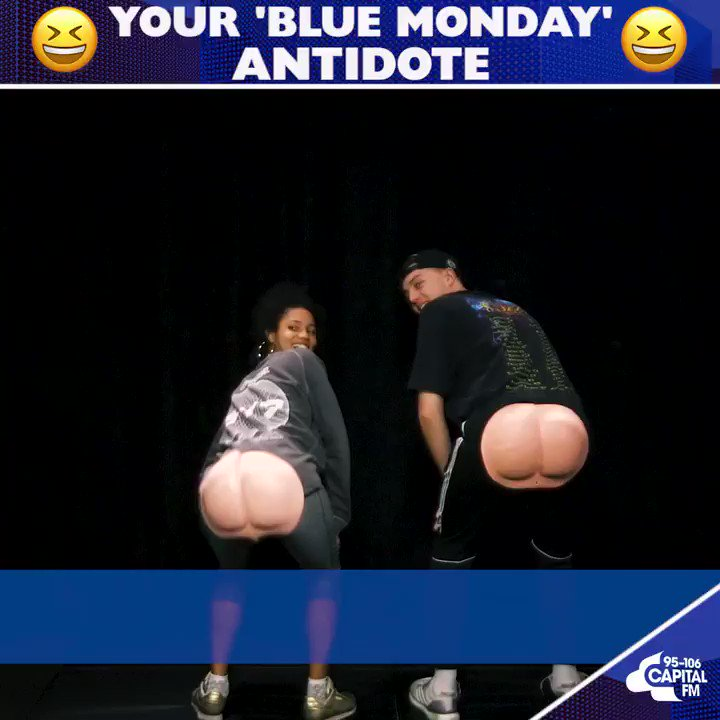 Turn that #BlueMonday frown upside down... thanks @edsheeran @Louis_Tomlinson & of course @romankemp & @VickNHope 🍑) https://t.co/oay7MZWyQc