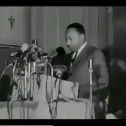 WOW!  Mahalia Jackson would often pray for Dr. King!   She would also sing for him when he was discouraged.  In this video she sensed he was troubled & started this song to help push him forward! #MartinLutherKingDay  #MLKDay